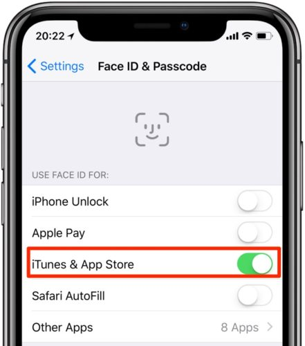 How to Enable Face ID to Buy Apps