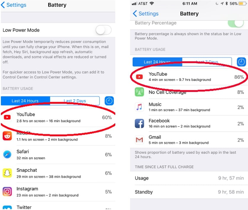 YouTube App Update Fixes for iOS 11 Battery Drain Bugs - 3uTools