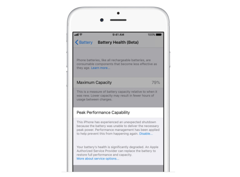 sports shoes d046d 1e72f How to Assess the Overall Health From Your iPhone Battery ...
