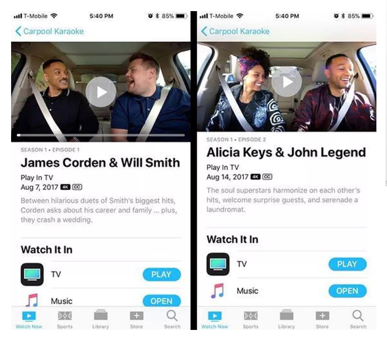 You Can Now Watch Apple's 'Carpool Karaoke' for Free