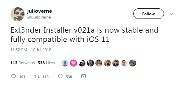 Ext3nder Installer is Now Fully Compatible With iOS 11