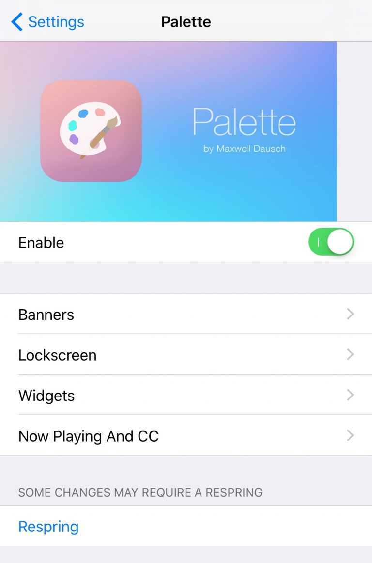 ​Palette Lets You Colorize Your Notifications and Widgets