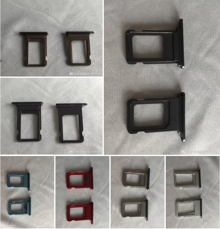 Purported iPhone Xr SIM Trays Leak, Showing 6.1-inch Model Colors Including Blue and Red